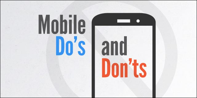 INFOGRAPHIC: Do's and Don'ts of Mobile AppMarketing